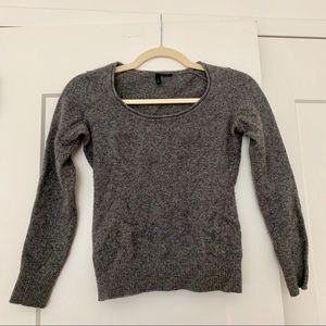 Gray Wool Long Sleeve Shirt